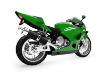 изолированный задней частью взгляд мотоцикла Стоковое Изображение