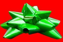 изолированный зеленый цвет смычка Стоковые Изображения RF