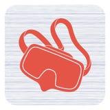 Изолированный значок маски подныривания Стоковая Фотография RF