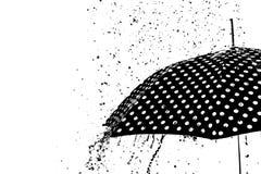 Изолированный зонтик падения дождя Стоковые Фото