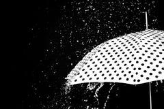 Изолированный зонтик падения дождя Стоковая Фотография RF