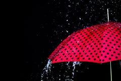 Изолированный зонтик падения дождя Стоковые Изображения RF