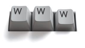 изолированный интернет пользуется ключом www Стоковая Фотография RF