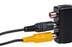 изолированный кабель переходники Стоковые Фотографии RF
