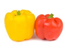 изолированный колоколом желтый цвет перца красный Стоковое Фото