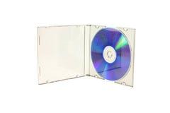 изолированный компактный диск Стоковая Фотография
