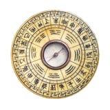 Изолированный компас Feng Shui Стоковые Фотографии RF