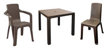 Изолированный комплект мебели сада патио Стоковые Фото