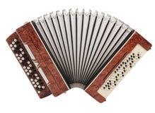изолированный коричневый цвет аккордеони bayan стоковое фото rf
