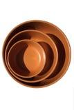 изолированный коричневым цветом салат плиты Стоковые Фотографии RF