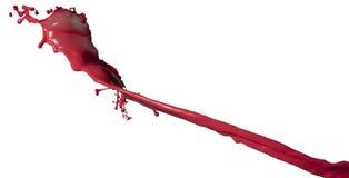 Изолированный красный выплеск краски стоковое изображение