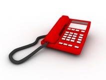 изолированный красный цвет телефона Стоковые Фото