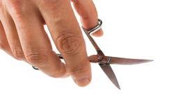 изолированный кром предпосылки scissors белизна Стоковые Изображения RF