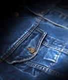 Изолированный крупный план синего пиджака карманный Стоковое Фото