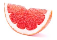 Изолированный кусок грейпфрута Стоковое фото RF