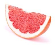Изолированный кусок грейпфрута Стоковая Фотография