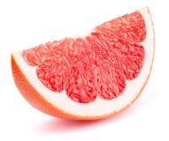 Изолированный кусок грейпфрута Стоковое Изображение
