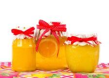изолированный лимон опарника варенья Стоковые Фото