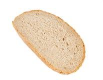 Изолированный ломтик хлеба Стоковые Фото