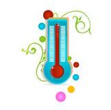 изолированный медицинский термометр знака Стоковое фото RF