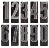 изолированный металл нумерует тип Стоковые Изображения