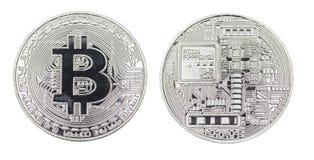 Изолированный металл серебра знака монетки бита Стоковые Изображения