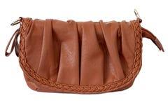 Изолированный мешок женщин Brown Стоковые Изображения RF