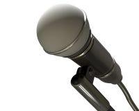 Изолированный микрофон иллюстрация штока