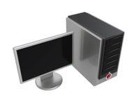 изолированный настольный компьютер компьютера бесплатная иллюстрация