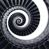 Изолированный на белой картине предпосылки лезвий турбины ремесла воздуха голубого серого цвета промышленной спиральной передерну Стоковое Изображение