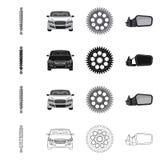 Изолированный объект логотипа автомобиля и части r бесплатная иллюстрация
