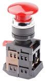 Изолированный переключатель красной кнопки Стоковое Изображение