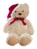 Изолированный плюшевый медвежонок рождества Стоковое фото RF