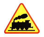 изолированный поезд знака Стоковое фото RF