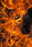 изолированный пожар предпосылки черный Стоковое Изображение