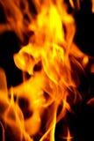 изолированный пожар предпосылки черный Стоковое Изображение RF