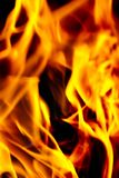 изолированный пожар предпосылки черный Стоковая Фотография RF