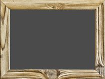Изолированный предмет Деревянная рамка при черные предпосылка, классн классный или школьное правление изолированные на белизне ск Стоковые Фотографии RF