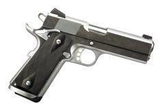 1911 изолированный профессионал личного огнестрельного оружия металла 45 пистолетов Стоковая Фотография