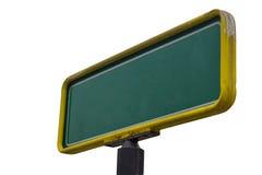 Изолированный пустой зеленый знак улицы Стоковая Фотография