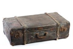 изолированный сбор винограда чемоданов Стоковые Фото