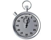 изолированный секундомер Стоковое Изображение RF
