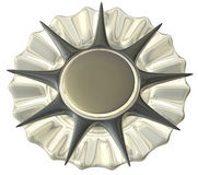 изолированный серебр медали Стоковое Изображение