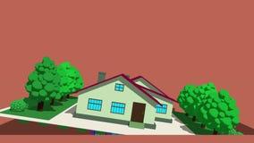 Изолированный слегка ударяющ cartoony дома бесплатная иллюстрация