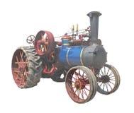 изолированный старый трактор пара Стоковые Изображения