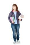 Изолированный студент Стоковые Изображения