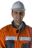 изолированный ся белый работник Стоковая Фотография RF