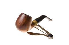 изолированный табак трубы оборудует белизну Стоковая Фотография RF