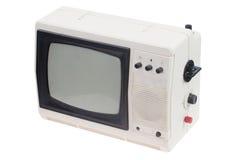 Изолированный телевизор год сбора винограда белый портативный Стоковые Изображения RF