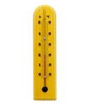изолированный термометр деревянный Стоковые Фото